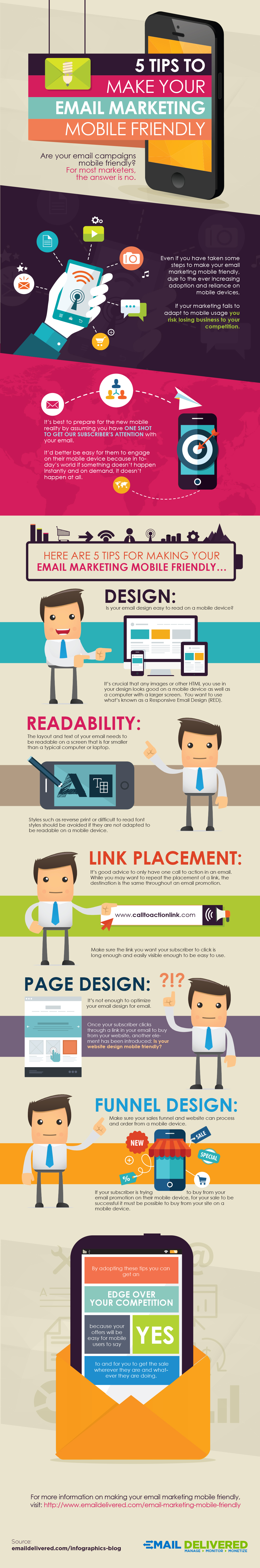 Mobile Newsletter Optimierungen Infografik