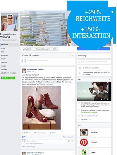 Social Media Reichweitensteigerung Impressionen Facebook